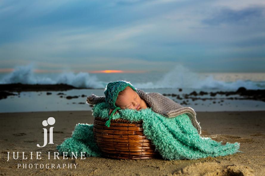 Laguna Beach Newborn Outdoor Sunset