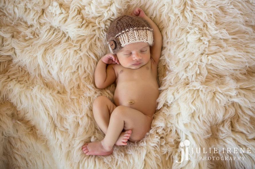 sweet baby boy on a flokati
