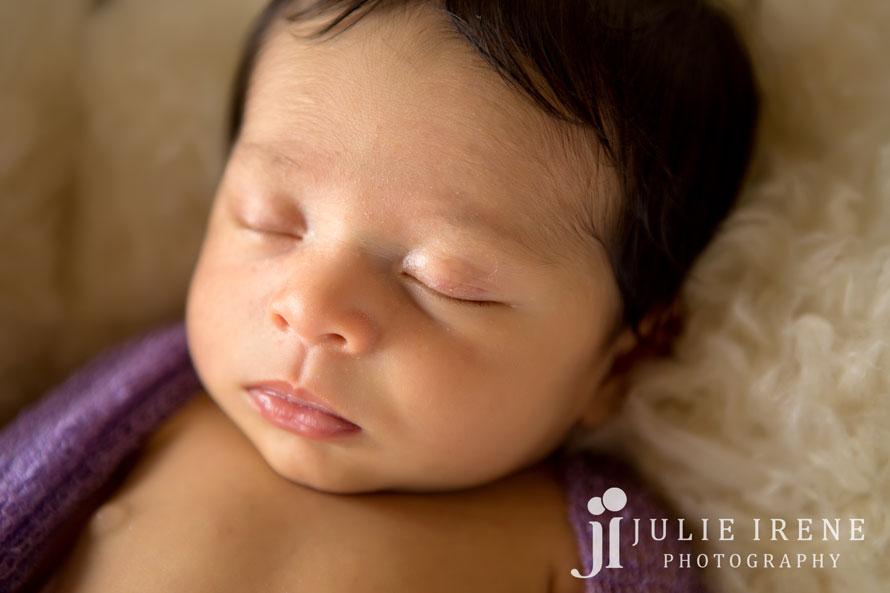 close up newborn baby
