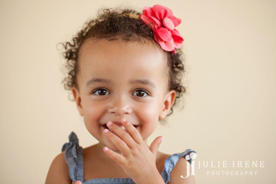 laughing toddler sister photo