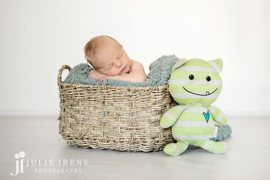 monster newborn baby boy basket
