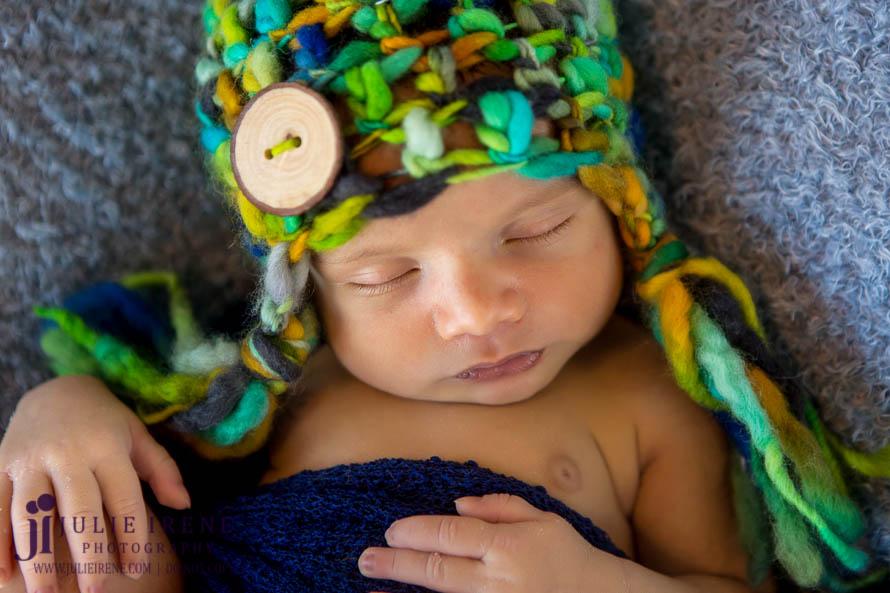 OC Baby Newborn Photo green bulky hat