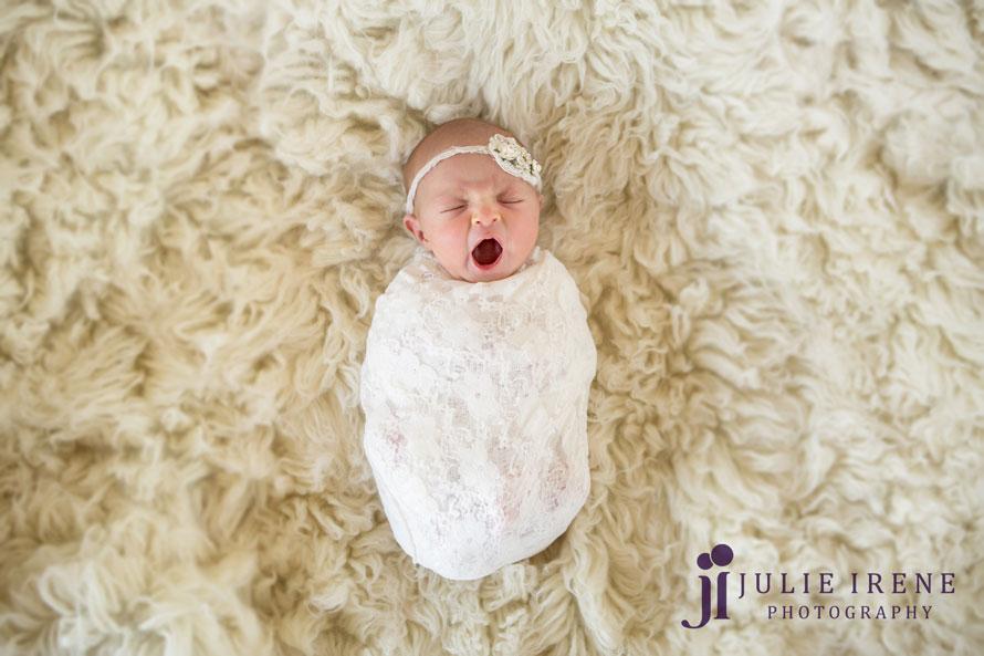 San Clemente yawn baby newborn portrait