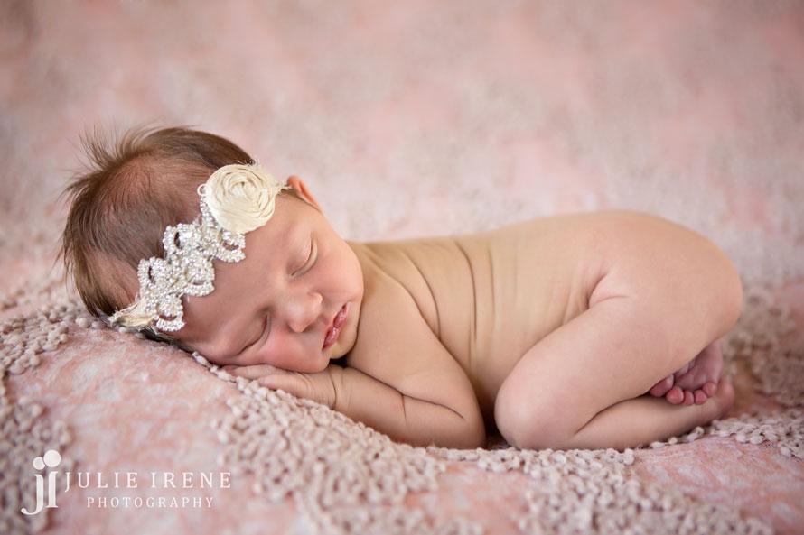 dusty rose newborn baby girl san clemente