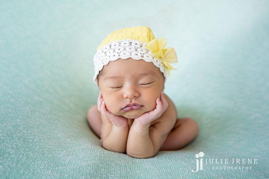 Yellow Hat Khloe San Clemente Baby Photo Julie Irene