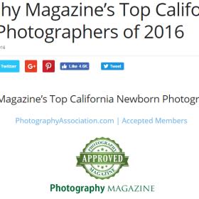 Photography Magazine top photographers 2016